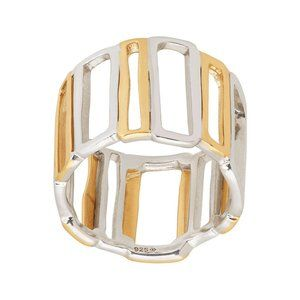 Silpada 'Framework' Sterling Silver and Brass Ring